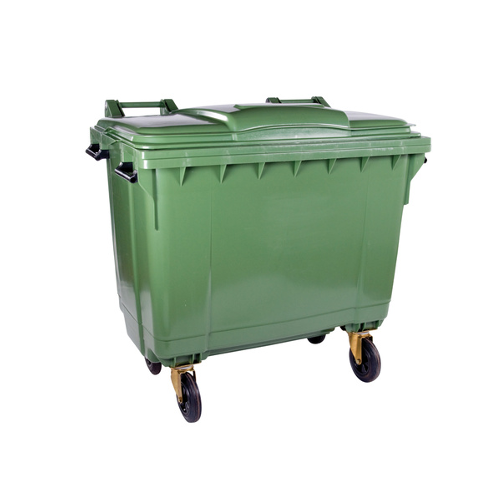 Mobile Wheelie Bin Green - 1100L