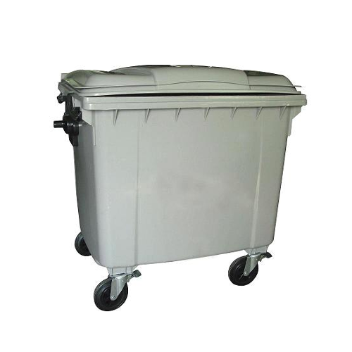 Mobile Wheelie Bin Grey - 1100L