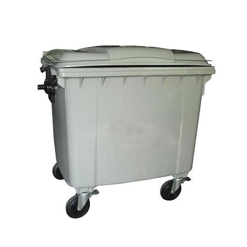 Mobile Wheelie Bin Grey - 1100L