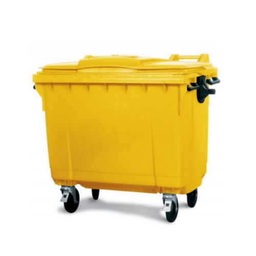Mobile Wheelie Bin Yellow - 1100L