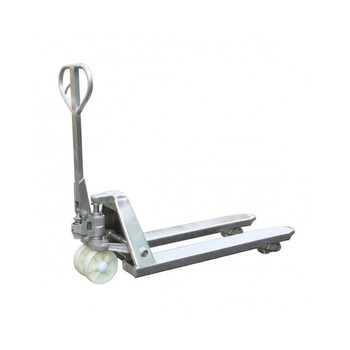 Stainless Steel Narrow Pallet Jack – 2500kg