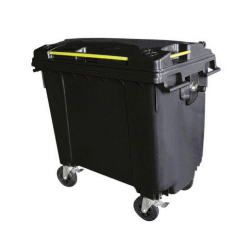 Mobile Wheelie Bins - Black - 660L