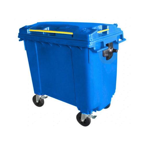Mobile Wheelie Bins - Blue - 660L