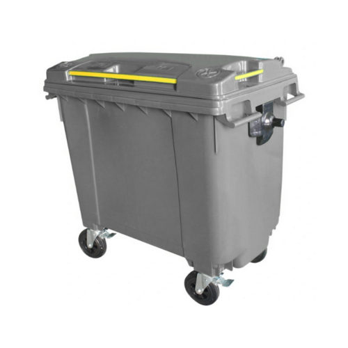 Mobile Wheelie Bins - Grey - 660L