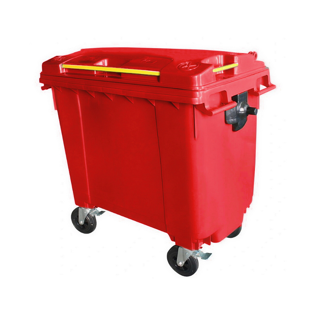 Mobile Wheelie Bins - Red - 660L