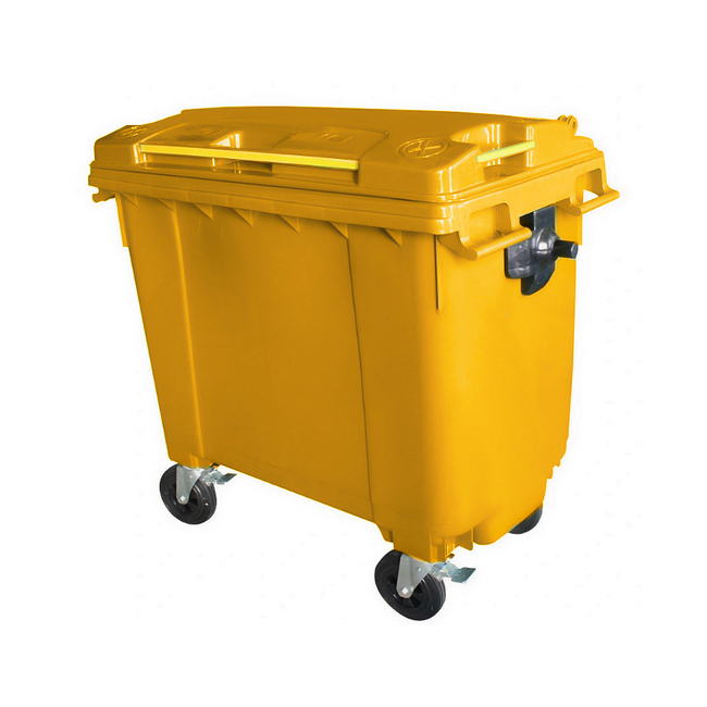 Mobile Wheelie Bins - Yellow - 660L