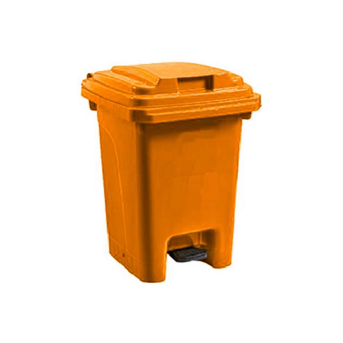 Pedal Bin Orange - 60L