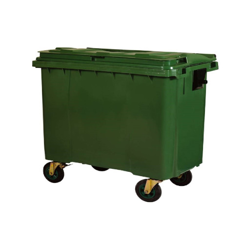 Plastic Mobile Bins - Green - 770l