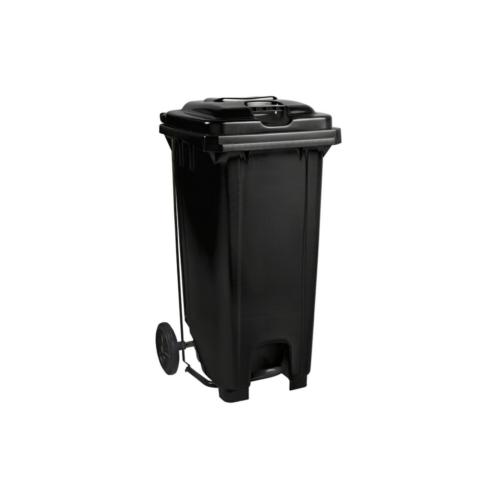 Plastic Pedal Wheelie Bin Black - 240L