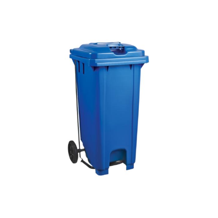 Plastic Pedal Wheelie Bin Blue - 120L