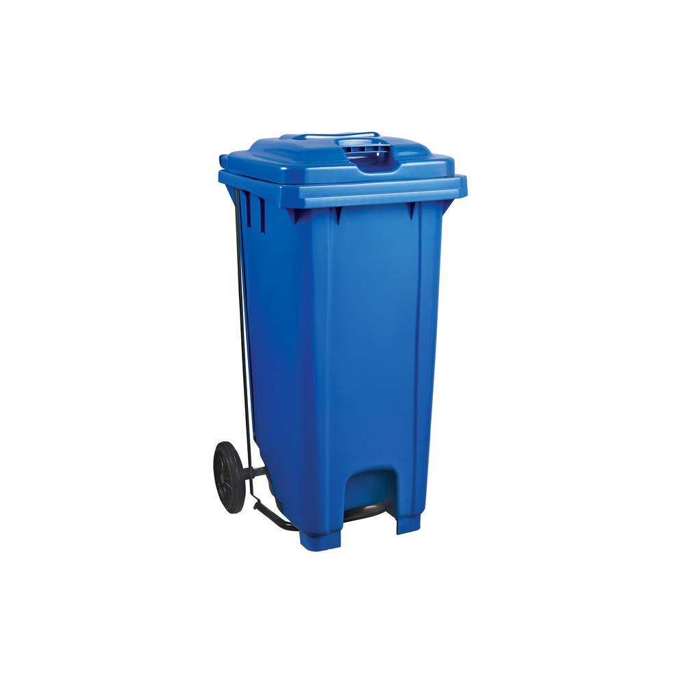 Plastic Pedal Wheelie Bin Blue - 240L