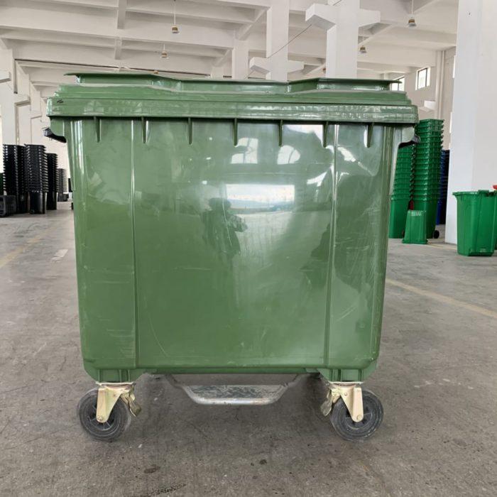 Plastic Mobile Pedal Bins - 1100L